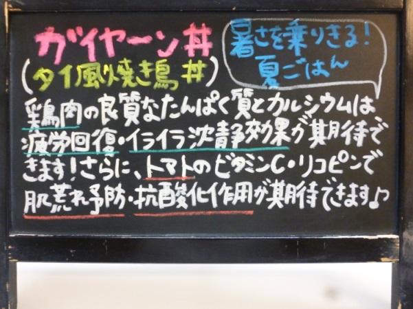 黒板*ガイヤーン丼