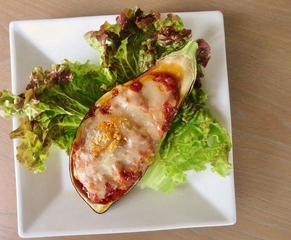 9月の無料レシピ!秋茄子のミートチーズ焼きとキノコとベーコンのクリームパスタ