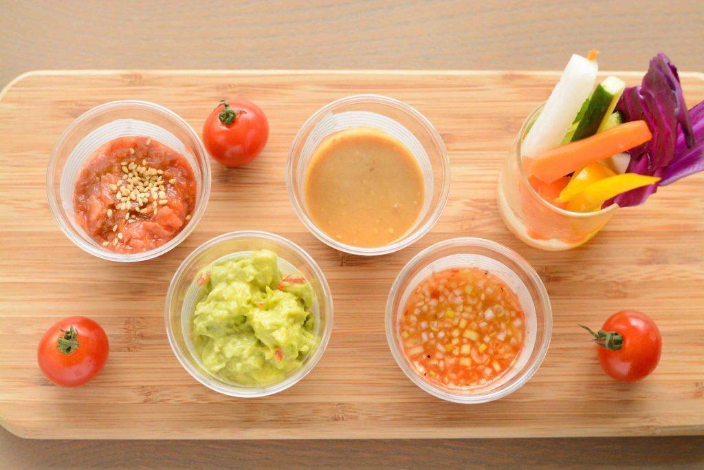 野菜スティックアンドディップソース
