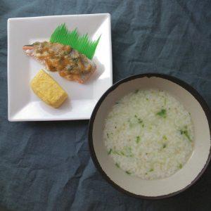 日本の伝統を味わおう!~七草粥&鏡開き~食育ミニ黒板