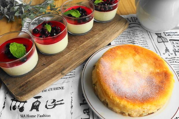 濃厚ベイクドチーズケーキとブルーベリーレアチーズケーキ